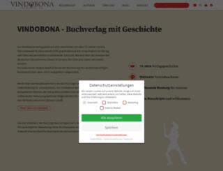 vindobonaverlag.com screenshot