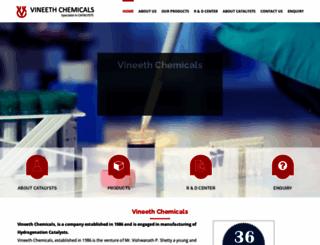 vineethchemicals.com screenshot