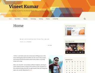 vineetkumar.me screenshot