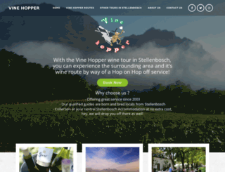 vinehopper.co.za screenshot