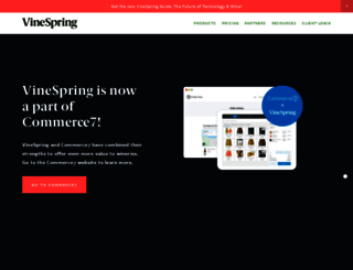 vinespring.com screenshot