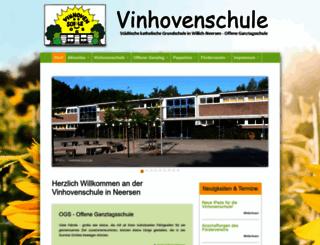 vinhovenschule.de screenshot