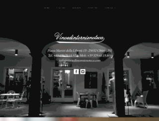 vinoedintorni.com screenshot