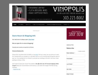 vinopoliswineshop.com screenshot
