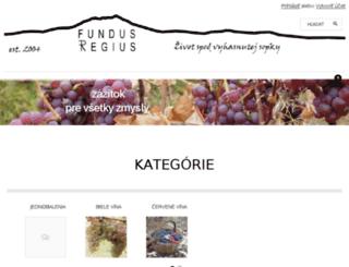 vinoregius.sk screenshot