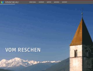 vinschgau-suedtirol.com screenshot
