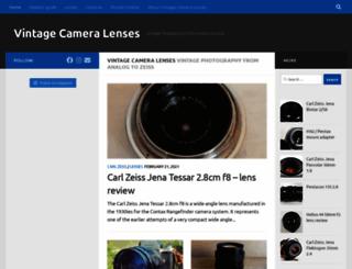 vintage-camera-lenses.com screenshot
