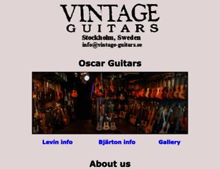 vintage-guitars.se screenshot