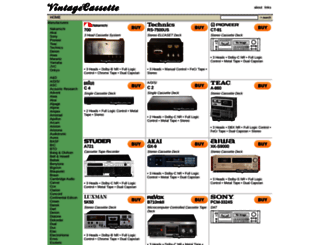 vintagecassette.com screenshot