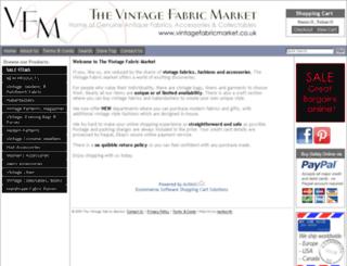 vintagefabricmarket.co.uk screenshot
