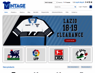 vintagefootballshirts.com screenshot