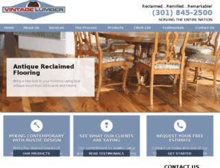 vintagelumbercom.reachlocalweb.com screenshot