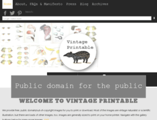 vintageprintable.com screenshot