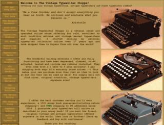 vintagetypewritershoppe.com screenshot