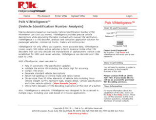 vintelligence.polk.com screenshot