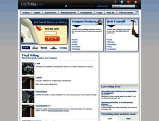 vinylsidingzone.com screenshot