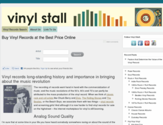 vinylstall.com screenshot