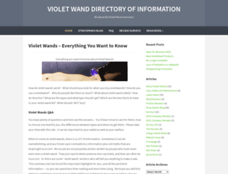 violetwand.com screenshot