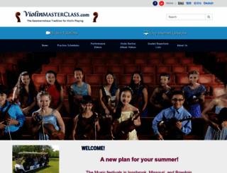 violinmasterclass.com screenshot