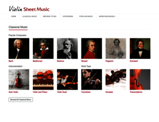 violinsheetmusic.org screenshot