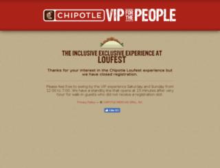vip.chipotle.com screenshot