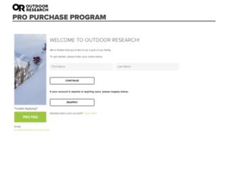 vip.outdoorresearch.com screenshot