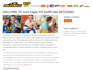 vipsampling.goldeagle.com screenshot