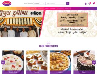 vipuldudhiyasweets.com screenshot