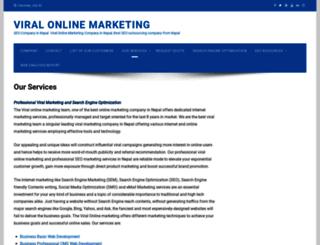viralmarketing.com.np screenshot