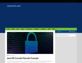 viralpatel.net screenshot