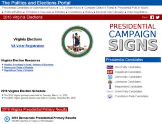 virginia.state-election.info screenshot