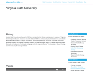 virginia.stateuniversity.com screenshot