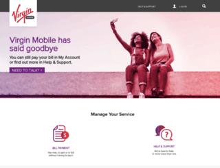 virginmobile.com.au screenshot