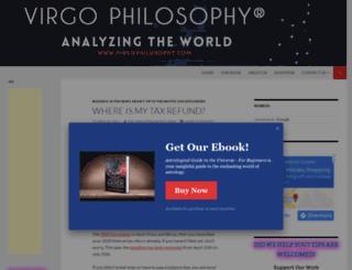 virgophilosophy.com screenshot