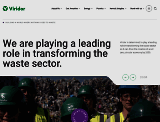viridor.co.uk screenshot