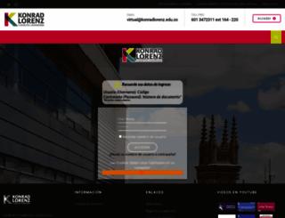 virtual.konradlorenz.edu.co screenshot