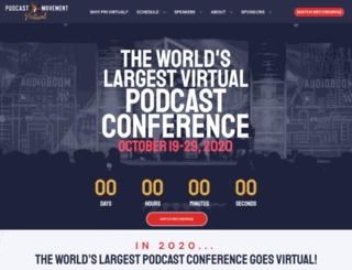 virtual.podcastmovement.com screenshot
