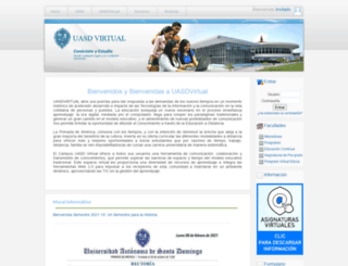 virtual.uasd.edu.do screenshot