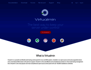 virtualmin.com screenshot