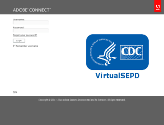 virtualsepd.adobeconnect.com screenshot