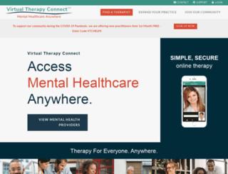 virtualtherapyconnect.com screenshot
