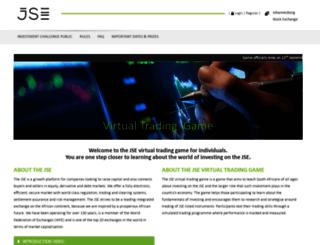 virtualtradinggame.jse.co.za screenshot