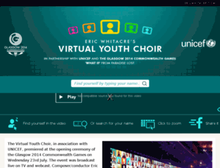 virtualyouthchoir.com screenshot