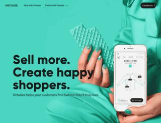 virtusize.com screenshot