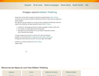 visages-trekking.com screenshot