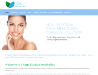 visagesurgicalaesthetics.co.uk screenshot