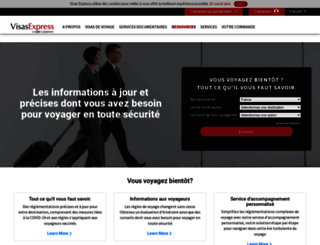 visas-express.fr screenshot