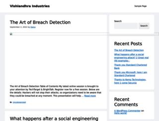 vishalandhraindustries.com screenshot