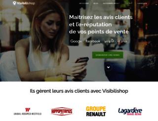 visibilishop.com screenshot