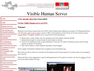 visiblehuman.epfl.ch screenshot